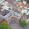 Domplein vanaf de Dom in Utrecht
